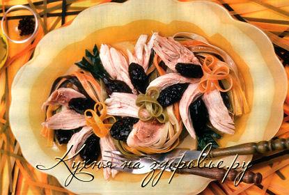 курица с овощами и лапшой рецепт