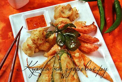 Овощи в кляре – кулинарный рецепт