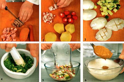 Фото рецепт: окрошка на минералке