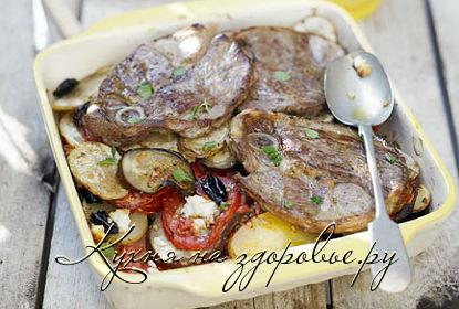 Картофельная запеканка с куриным фаршем и помидорами