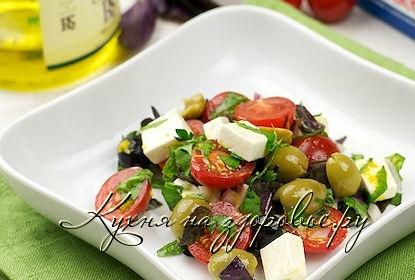 Рецепт салата с помидорами и сыром фетакса