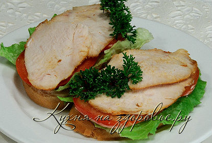 Как накрыть праздничный стол недорого и вкусно - делаем бутерброды с курицей