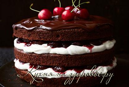 шоколадный торт с вишней фото рецепт