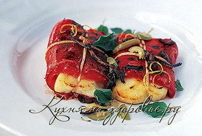 Кулинарный рецепт из сыра халлуми с перцем