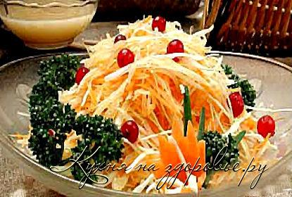 Рецепт приготовления овощного салата с репой.
