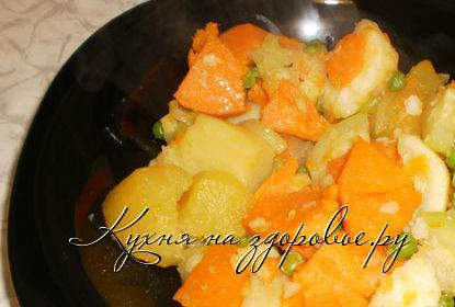 Рецепт приготовления рагу с репой.