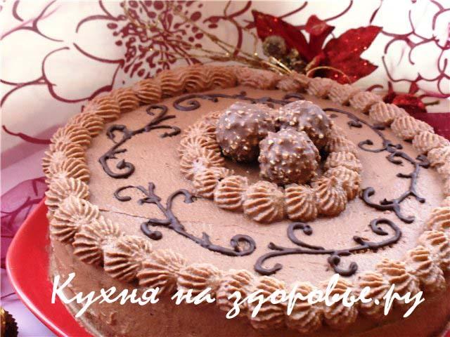 Шоколадно-вишневый торт.