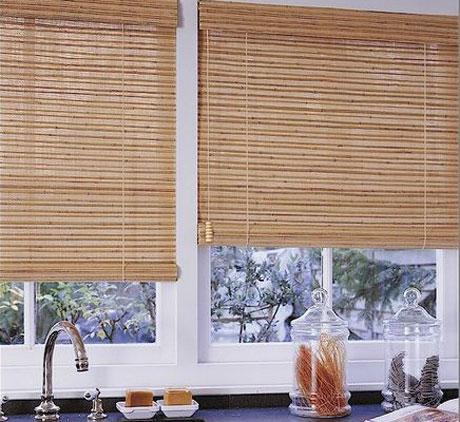 Бамбуковые шторы для кухни.