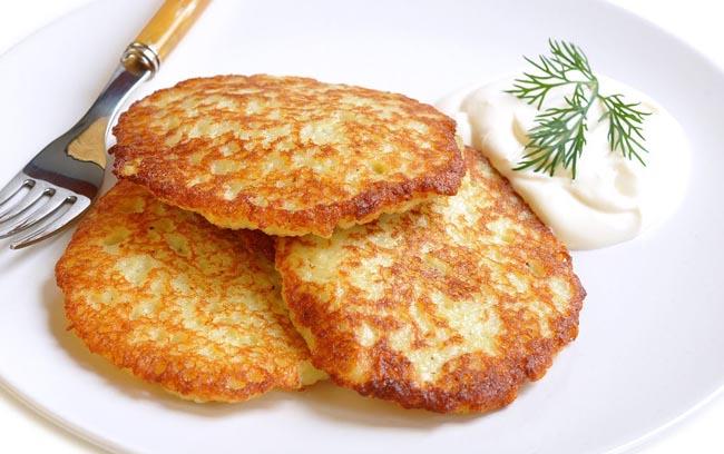 Драники, картофельные оладьи по-белорусски.