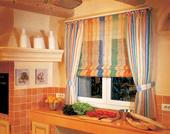Римские шторы для кухни.