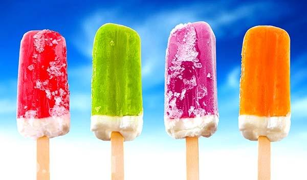 домашнее мороженое фруктовый лед