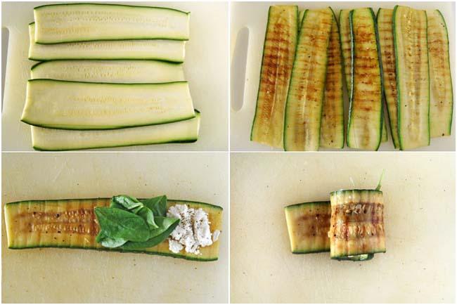 Фото-рецепт: канапе с сыром и цукини.