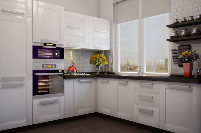 Как визуально увеличить маленькую кухню.