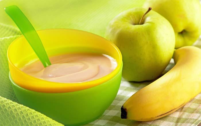 Бананово-яблочное пюре